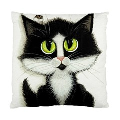 Tuxedo Cat by BiHrLe Cushion Case (Two Sides)