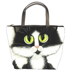 Tuxedo Cat By Bihrle Bucket Bag
