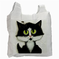 Tuxedo Cat By Bihrle Recycle Bag (two Sides)