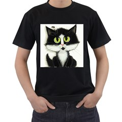 Tuxedo Cat by BiHrLe Mens' T-shirt (Black)