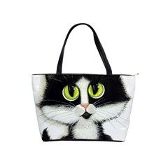 Tuxedo Cat by BiHrLe Large Shoulder Bag