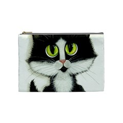 Tuxedo Cat by BiHrLe Cosmetic Bag (Medium)