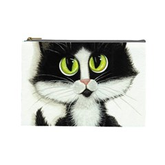 Tuxedo Cat by BiHrLe Cosmetic Bag (Large)