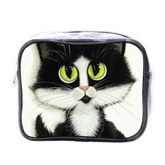 Tuxedo Cat by BiHrLe Mini Travel Toiletry Bag (One Side)