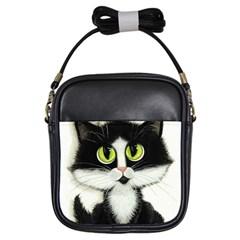Tuxedo Cat by BiHrLe Girl s Sling Bag