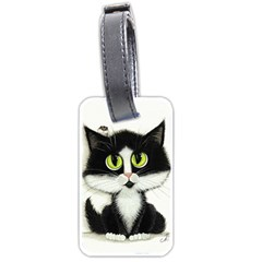 Tuxedo Cat by BiHrLe Luggage Tag (Two Sides)