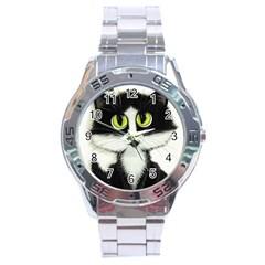 Tuxedo Cat By Bihrle Stainless Steel Watch (men s)