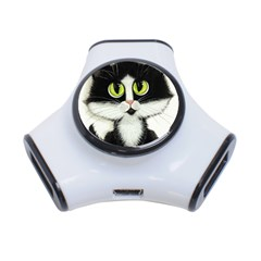 Tuxedo Cat By Bihrle 3 Port Usb Hub