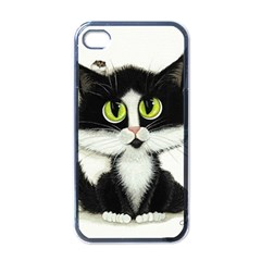 Tuxedo Cat by BiHrLe Apple iPhone 4 Case (Black)