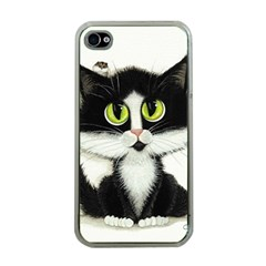 Tuxedo Cat by BiHrLe Apple iPhone 4 Case (Clear)