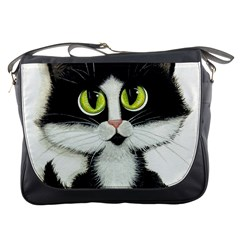 Tuxedo Cat By Bihrle Messenger Bag