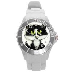 Tuxedo Cat by BiHrLe Plastic Sport Watch (Large)