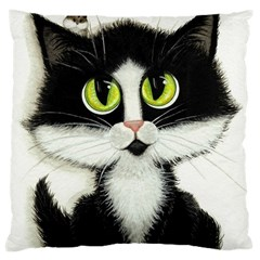 Tuxedo Cat by BiHrLe Large Cushion Case (Two Sides)