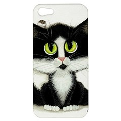 Tuxedo Cat by BiHrLe Apple iPhone 5 Hardshell Case