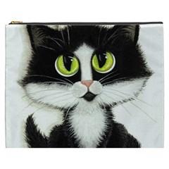 Tuxedo Cat by BiHrLe Cosmetic Bag (XXXL)