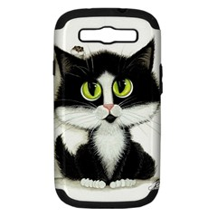 Tuxedo Cat by BiHrLe Samsung Galaxy S III Hardshell Case (PC+Silicone)