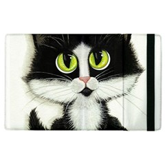 Tuxedo Cat by BiHrLe Apple iPad 3/4 Flip Case