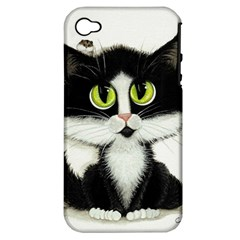 Tuxedo Cat by BiHrLe Apple iPhone 4/4S Hardshell Case (PC+Silicone)