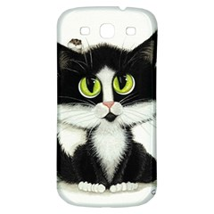 Tuxedo Cat by BiHrLe Samsung Galaxy S3 S III Classic Hardshell Back Case