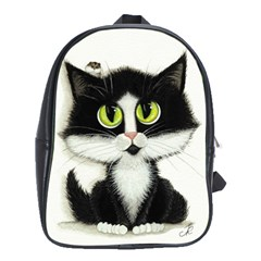 Tuxedo Cat By Bihrle School Bag (xl)