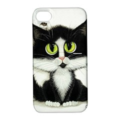 Tuxedo Cat by BiHrLe Apple iPhone 4/4S Hardshell Case with Stand
