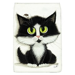Tuxedo Cat by BiHrLe Removable Flap Cover (Large)