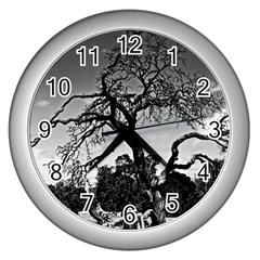 dead tree Wall Clock (Silver)