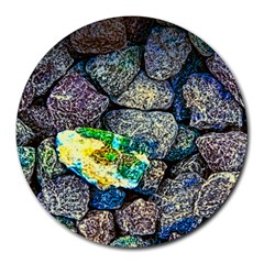 colorful rock s 8  Mouse Pad (Round)
