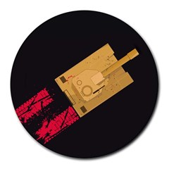 Tank 8  Mouse Pad (round)