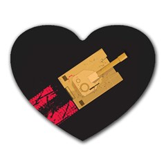 Tank Mouse Pad (heart)