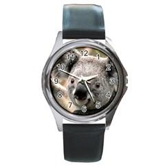 Koala Round Metal Watch (silver Rim)