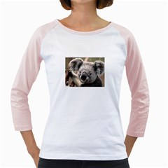 Koala Womens  Long Sleeve Raglan T-shirt (White)