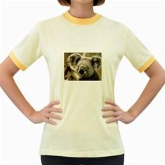 Koala Womens  Ringer T Shirt (colored)