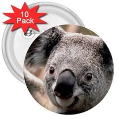 Koala 3  Button (10 Pack)