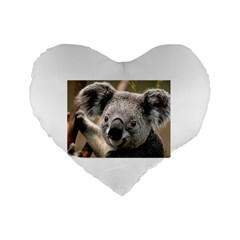 Koala 16  Premium Heart Shape Cushion