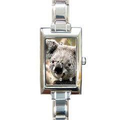 Koala Rectangular Italian Charm Watch