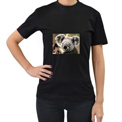 Koala Womens' Two Sided T-shirt (Black)