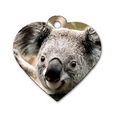Koala Dog Tag Heart (Two Sided)
