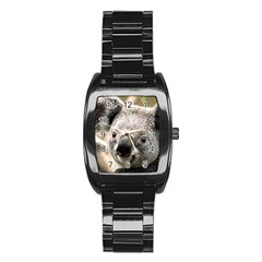 Koala Men s Stainless Steel Barrel Analog Watch