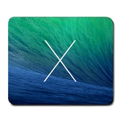 X Marks the Wave Large Mouse Pad (Rectangle)
