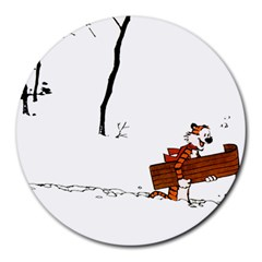 Calvin & Hobbes 8  Mouse Pad (round)