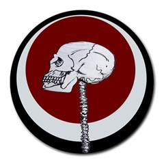 Skeletal Warning 8  Mouse Pad (round)