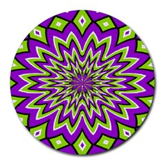 eyes trick 8  Mouse Pad (Round)