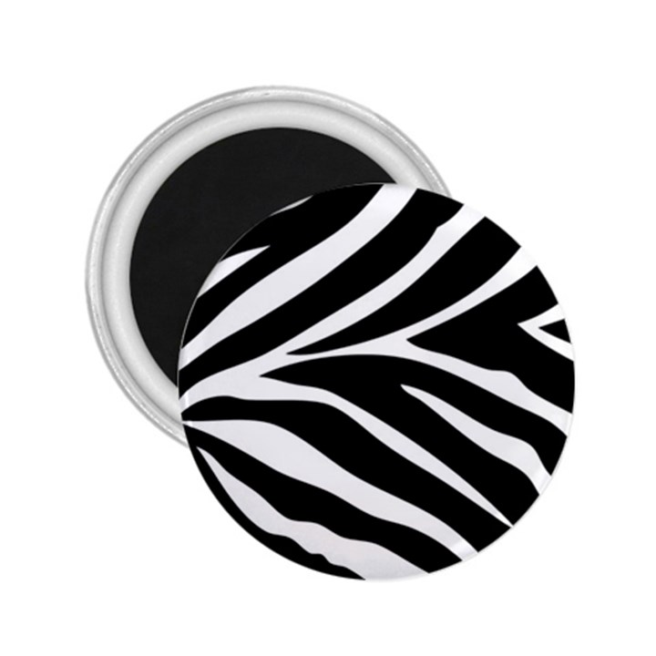 Black and white 2.25  Button Magnet