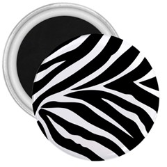 Black and white 3  Button Magnet