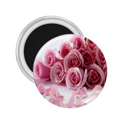 Pink Roses 2.25  Button Magnet