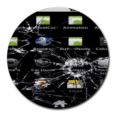 Crack Screen 8  Mouse Pad (Round)