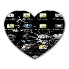 Crack Screen Mouse Pad (heart)
