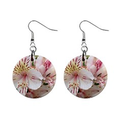 Flower Alstromeria Mini Button Earrings