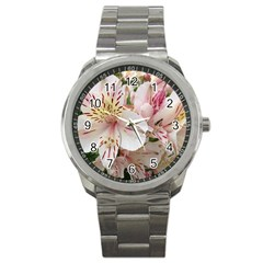 Flower Alstromeria Sport Metal Watch